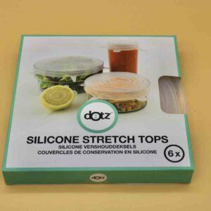 Set de 6 couvercles en silicone