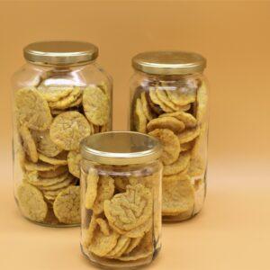 Crackers de lentilles au curry madras
