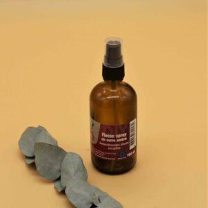 Flacon spray en verre ambré 100 ml