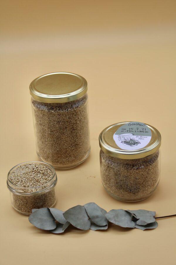Gomasio bio - Sésame toasté et sel de Guérande