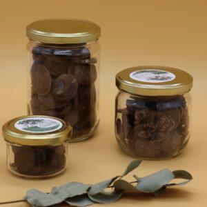 Palets de chocolat noir