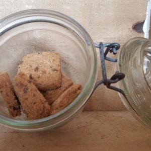Biscuits sablés au chocolat et fleur de sel