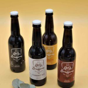 Bières biologiques de la Brasserie du Merlin – 33cl