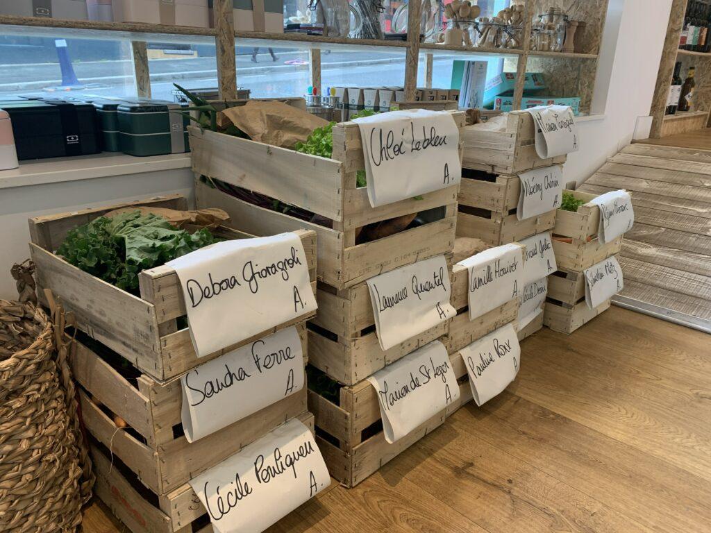 Panier de légumes du potager des embruns