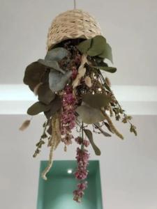 suspension fleurs séchees